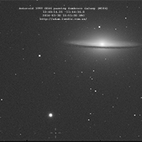 Asteroid 1999 CK46 Passing the Sombrero Galaxy thumbnail