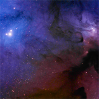 IC4603 and IC4604 Showing Rho Ophiuchi Color Transition thumbnail